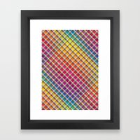 Checks In Colours Framed Art Print