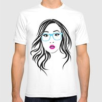 Huh? version 2 Mens Fitted Tee White SMALL