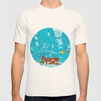 Adventure Time! Mens Fitted Tee Natural SMALL