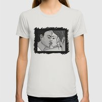 KISS 2 Womens Fitted Tee Silver SMALL