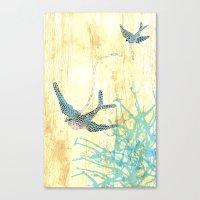 Birds Of Blue Canvas Print