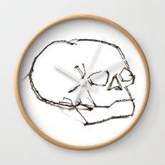47. Twiggy Skull Wall Clock