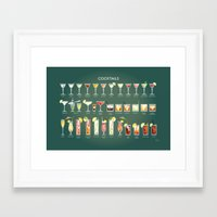 36 Cocktails Framed Art Print