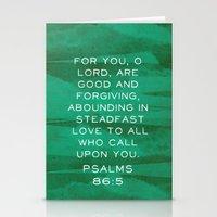 Psalms 86:5 Stationery Cards