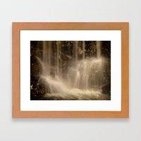 Underground Waterfall Framed Art Print