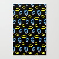Bat Pattern Canvas Print