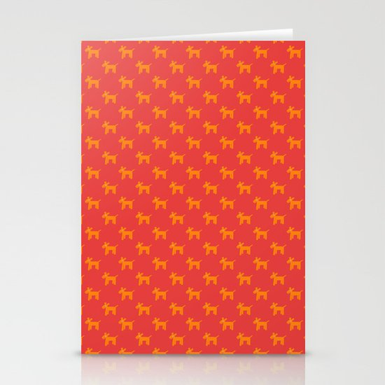 Dogs-Red Stationery Card