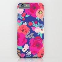 Sweet Pea Floral Blue Br… iPhone 6 Slim Case
