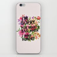 iPhone & iPod Skin featuring I'm Sorry For What I Sai… by Sara Eshak