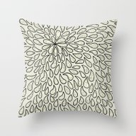 Pearlised Drops - Ivory Throw Pillow