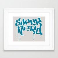 Super Nerd Framed Art Print
