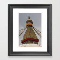 Bodhinath Stupa Framed Art Print