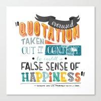 Imitation Flattery - Quotation Canvas Print