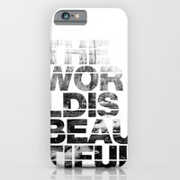 iPhone & iPod Case featuring The World is Beautiful by Tyler Bramer
