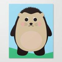 Hubert the Hedgehog Canvas Print