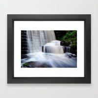 Top Waterfall Framed Art Print