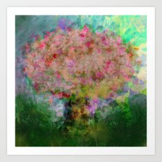 A colorful tree Art Print