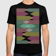 Let it be. Black SMALL Mens Fitted Tee