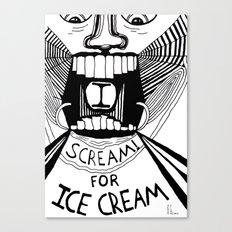 I Scream for Ice Cream Canvas Print