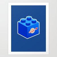 Space Lego Art Print
