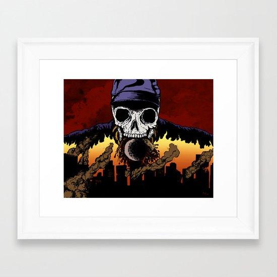 """""""Hip Hop Horror"""" by Cap Blackard Framed Art Print"""