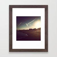 Ocean City Beach Framed Art Print