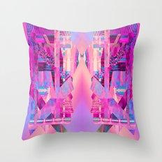 Taj Digi Collage Throw Pillow