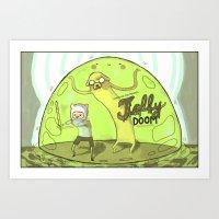 Jelly Doom Adventure Tim… Art Print
