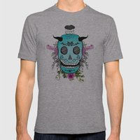 Rain Skull Mens Fitted Tee Athletic Grey SMALL
