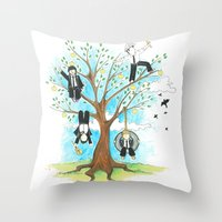 Les Petits - Apple Tree Throw Pillow
