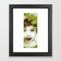 girl with a fish Framed Art Print