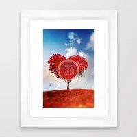 FEBRUARY CALENDAR  Framed Art Print