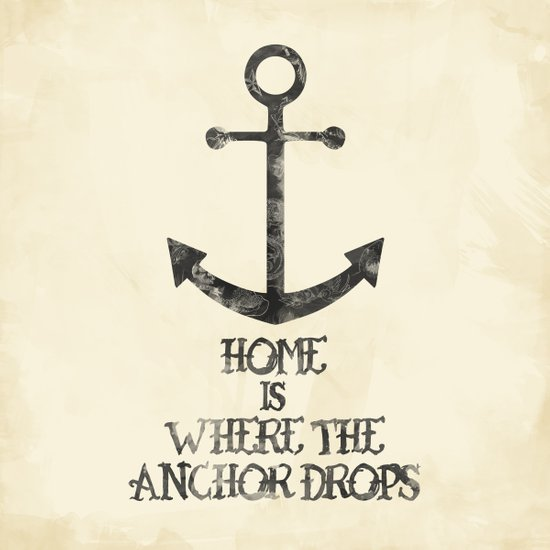 Where The Anchor Drops Art Print