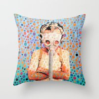 Throw Pillow featuring Stop Nuclear by Cristian Blanxer