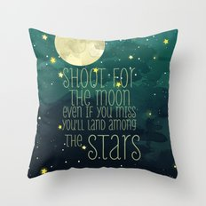 The moon and stars Throw Pillow