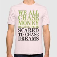 Dreamchaser Mens Fitted Tee Light Pink SMALL