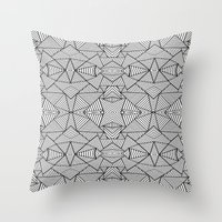 Abstract Mirror Black On… Throw Pillow