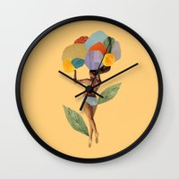 I Walk Out In The Flower… Wall Clock
