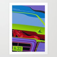 Lancia Thema Art Print