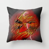 Dragon One Throw Pillow