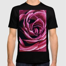 Rose Sketch SMALL Mens Fitted Tee Black
