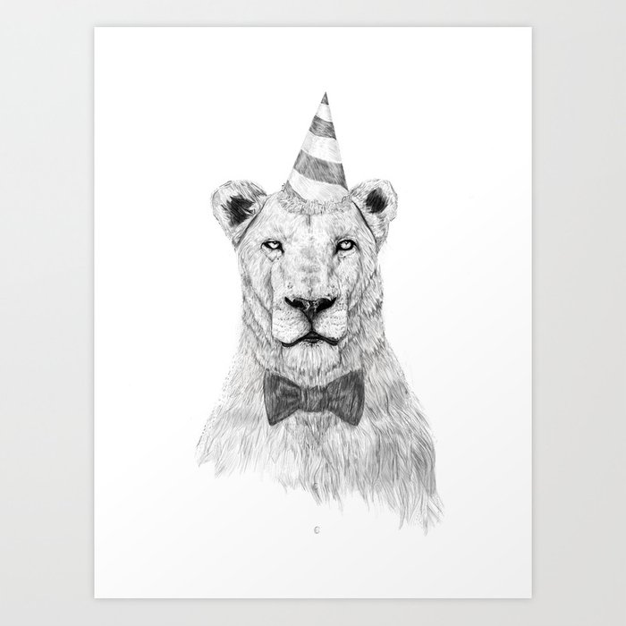 Sunday's Society6 lion lonely party