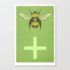 Bee Positive Canvas Print