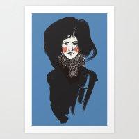 Mystery Blue Art Print