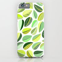 iPhone & iPod Case featuring Leaf Green by Shakkedbaram