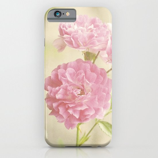 Vintage Pink Ruffled Roses II iPhone & iPod Case