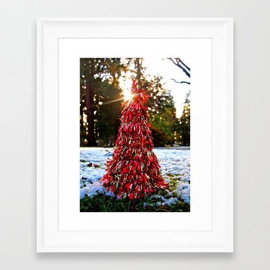 Yuletide tree Framed Art Print