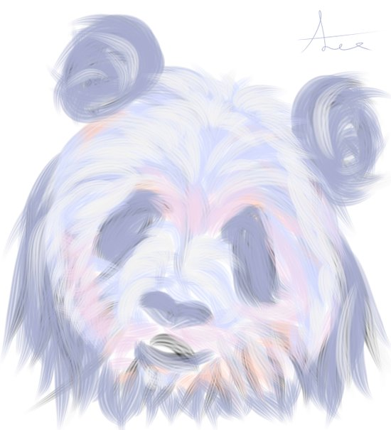 Pastel Panda Art Print