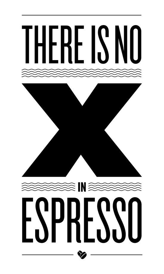 No X in Espresso – Black Canvas Print