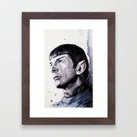 Goodbye Mr. Spock - Leonard Nimoy Framed Art Print